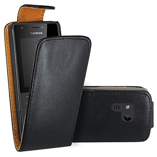 Nokia 216 Hülle, FoneExpert® Hülle Case Cover Hüllen Etui Ledertasche Premium Lederhülle Schutzhülle für Nokia 216