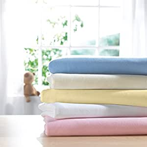Izziwotnot Jersey Interlock draps couffin (lot de 2, Citron)