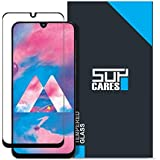 SupCares Premium Edge to Edge Tempered Glass Screen Protector for Samsung Galaxy M30 / Samsung Galaxy A30 / Samsung Galaxy A50 with Easy Installation Kit (Black) [Pack of 1]
