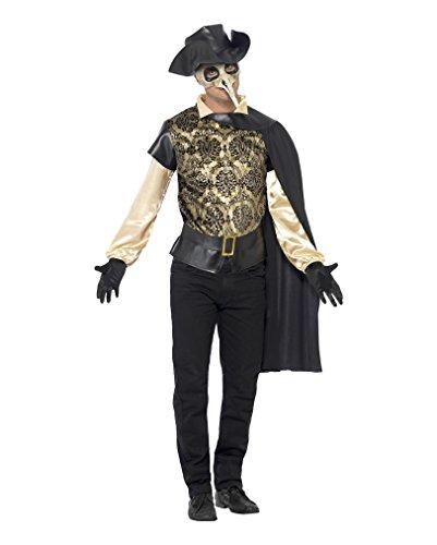Venedig Pest Doktor Verkleidung (Doktor Kostüm Venezianische Pest)