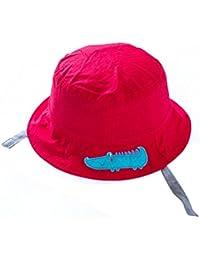 EOZY Chapeau pour Pêche/Plage ou Casquette de Soleil Rouge pour Bébé/Enfant Coton