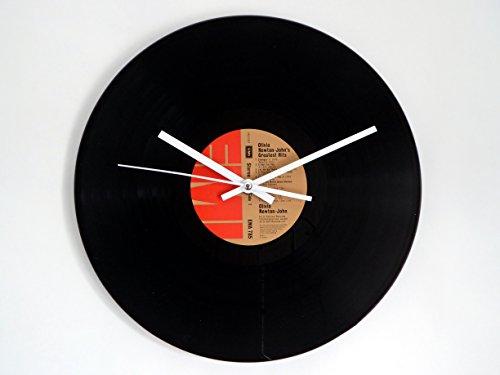 olivia-newton-johns-greatest-hits-vinyl-record-wall-clock