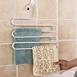 GFGHH Pants Hangers Multifunction Iron Trousers Hanger Tie Scarfs Towel Storage Rack