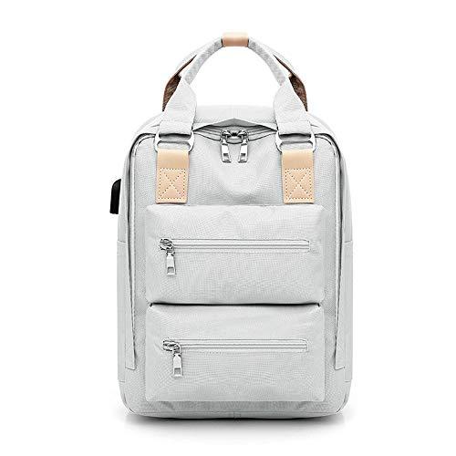 QWESHTU 15,6-Zoll-Laptop-Taschen Große Kapazität Verschleißfest Atmungsaktiv Geeignet Für Geschäftsreisen College Outdoor-Freizeit,Gray -