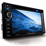 Tristan Auron BT2D7013B Autoradio mit Navi, 6,5'' Touchscreen Bildschirm, Weblink, Bluetooth Freisprecheinrichtung, USB/SD, CD/DVD, DAB+ Lenkradsteuerung Rückfahrkamera, 2 Din