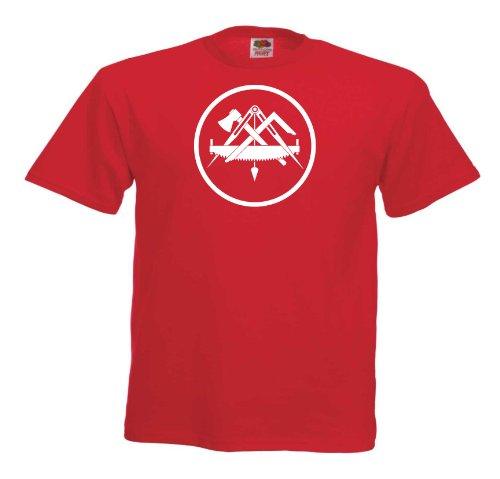 Zimmermann T154 Unisex T-Shirt Textilfarbe: rot, Druckfarbe: weiß