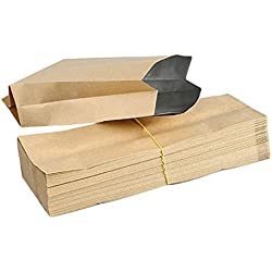 Hosaire 50Pcs Pochette Sac en Papier Kraft Vintage Petites Papier Kraft pour Sacs Cadeau Imperméable Enveloppe Emballage Cadeaux Bonbons Thé Parfumé Pétales de Fleur pour Mariage Anniversaire Fete