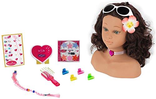Theo Klein 5267 - Princess Coralie Cabeza Para Maquillar Y Peinar Hawaii, Grande