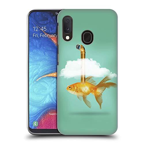 fizielle Vin Zzep Periskop Goldfisch Fisch Harte Rueckseiten Huelle kompatibel mit Samsung Galaxy A20e (2019) ()