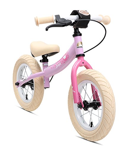 BIKESTAR Kinder Laufrad Lauflernrad Kinderrad für Mädchen ab 3-4 Jahre | 12 Zoll Sport Kinderlaufrad Rosa | Risikofrei Testen