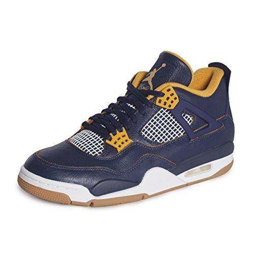 Nike Air Jordan 4 Retro, Chaussures de Sport Homme, Bleu