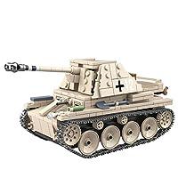 12che 608Pcs Tank Model Military Vehicle Toy Anti-tank Blaster Bricks Building Blocks Set for Kids