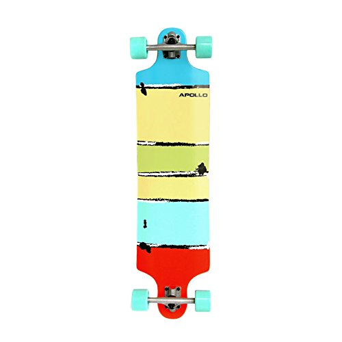 Apollo Twin-Tip Topmount Longboard, Maui Colour, ABEC Kugellagern, Twin-Tip Freeride Skaten Cruiser Board (Herren Skateboard Deck)