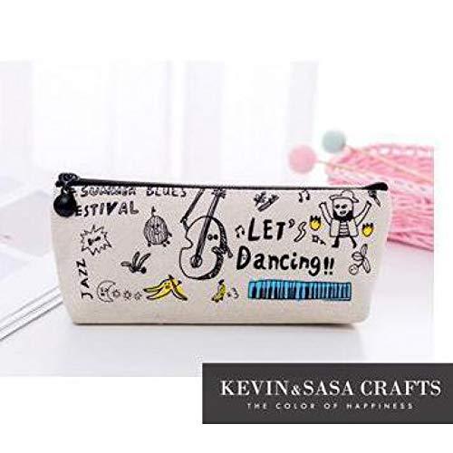 ASKHY Federmäppchen Federmäppchen Stoff Schulbedarf Schreibwaren Geschenk Federmäppchen Schule Cute Pencil Box Schule Tools Bleistiftbeutel,Tanzen -