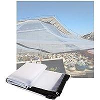 WZNING Tarra transparente impermeable con arométricos de refuerzo de plástico al aire libre toldo de tela plegable resistencia al desgarro para las plantas del techo de hutch de mascotas de invernader