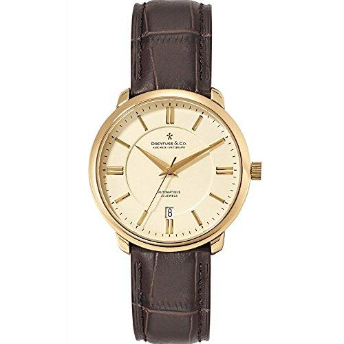 Dreyfuss & Co Watches dgs00101–03dgs00101/03–Orologio da uomo, cinturino in pelle colore marrone