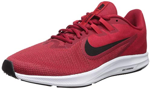 Nike Herren Downshifter 9 Laufschuhe, Rot (Gym Black-University Red-White 600), 45 EU