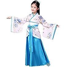 KINDOYO Hanfu Cinese - Costume da Ragazza Tradizionale di Abbigliamento da  Principessa Vintage 738b9e8f539a