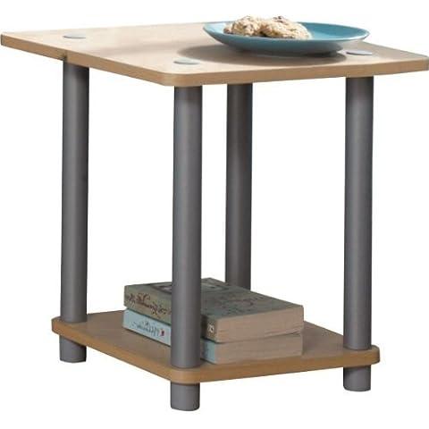 Oficina en casa 2estante pequeño pantalla mesa auxiliar de madera