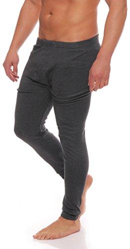 Thermo Unterwäsche Set Hemd/Hose oder 2 Stück lange Thermo-Unterhemden oder Thermo-Unterhosen angeraut anthrazit oder grau Grössen 5 bis 10 lieferbar -tolle Skiunterwäsche für Herren 2 Hosen anthrazit