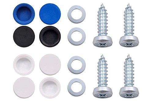 Preisvergleich Produktbild Kennzeichen-Schrauben-Set für Pkw und Lkw (5,5x19)