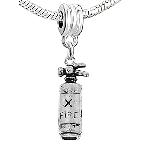 SEXY SPARKLES-Estintore Charm per braccialetti di perline, a serpente