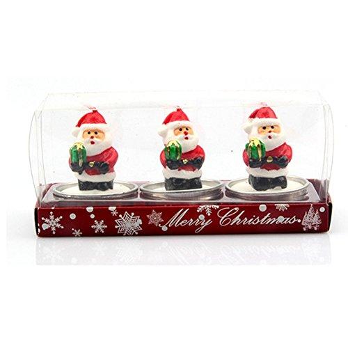 Demarkt Weihnachtsfiguren Kerzen Teelicht Weihnachten Party Dekoration 16*4*5CM