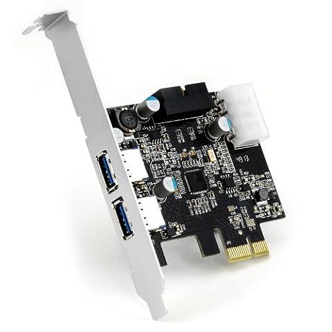 CSL USB 3.0 PCI express (PCIe) controller | 2 x external (ports) / 1 x internal (controller/header) | USB 3.0 Super Speed interface card | USB internal