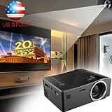 SLB Works Brand New 3000 Lumens HD Home Cinema Theater Multimedia LED/LCD Projector HDMI//VGA/AV/3D