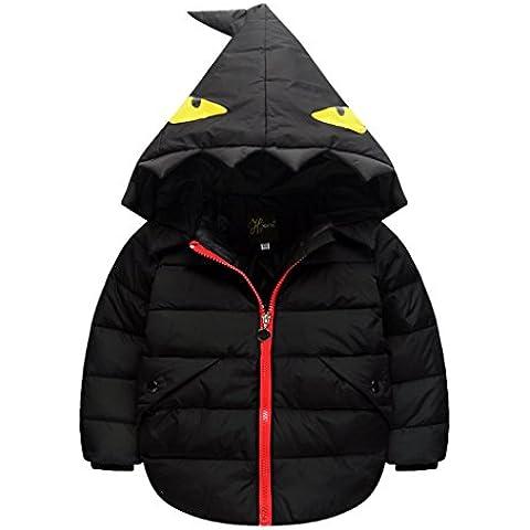 Niño Caliente Abrigo chaqueta acolchada con capucha sudadera abrigo anorak invierno chaqueta abajo 1-6 años