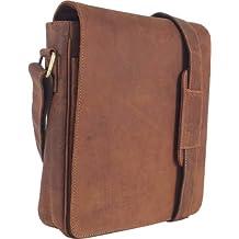 UNICORN Vera Pelle ipad, Ebook o Tablets Borsa Cognac Tan Messenger Bag #3E