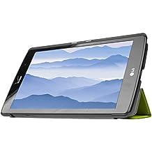 Para LG G PAD X8.3 Funda, HZSSEC Funda Slim-Fit Folio Smart Case Coque para LG G PAD X8.3 (4G LTE Verizon Wireless VK815) con soporte y cierre magnético con función veille automatique - Verde