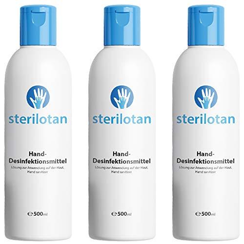 Sterilotan - Desinfektionsmittel Hand | Sterilium Händedesinfektion Mittel - Desinfektion Hände | Handdesinfektion unterwegs & zuhause (3 Flaschen)