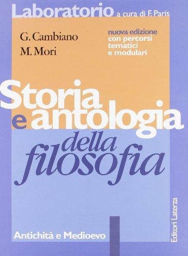 Storia e antologia della filosofia. Per i Licei e gli Ist. Magistrali: 1