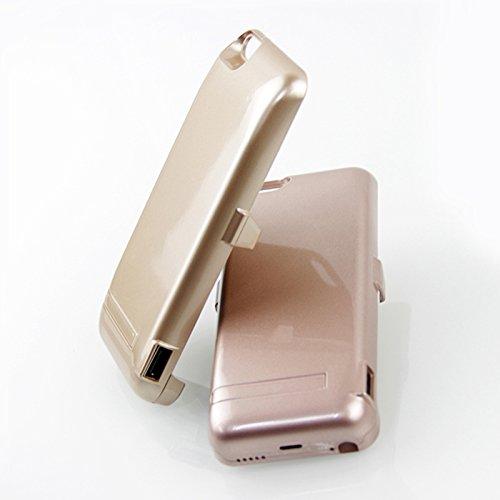 iPhone 5 5S 5C SE Akku Hülle LifeePro 4200mAh Ultra Dünn Externer Akku Case Aufladbar Batterie Ladehülle Integrierten Ersatzakku Ladegerät Power Bank Backup Extra Pack Schutzhülle für iPhone 5 5S 5C S Rose Gold