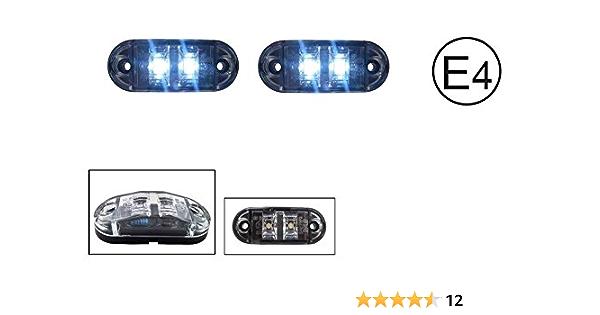 A1 2x Led 12v Weiss Begrenzungsleuchte Umrissleuchte Positionsleuchte Seitenmarkierungsleuchte Lkw E Prüf E9 Auto