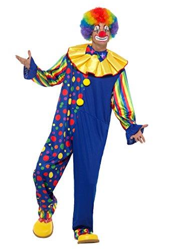 Preisvergleich Produktbild SMIFFY 'S 47200l Deluxe Clown Kostüm, Herren, Mehrfarbig, groß, 42–Blumenkasten