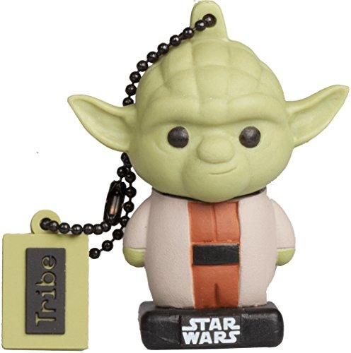 Tribe Star Wars 8 Yoda USB Stick 16 GB Speicherstick 2.0 High Speed Pendrive Memory Stick Flash Drive, Lustige Geschenke 3D Figur, USB Gadget aus Hart-PVC mit Schlüsselanhänger (Starwars Usb-port)