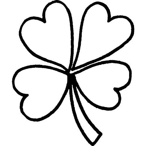 Azeeda A7 'Vierblättriges Kleeblatt' Stempel (Unmontiert) (RS00008331) (Kleeblatt Stempel)