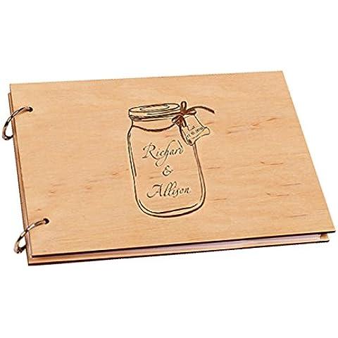 Drift bottiglia personalizzabile con nome di sposo e sposa Photo Album Libro Album nozze San Valentino regali 20,3x 30,5cm