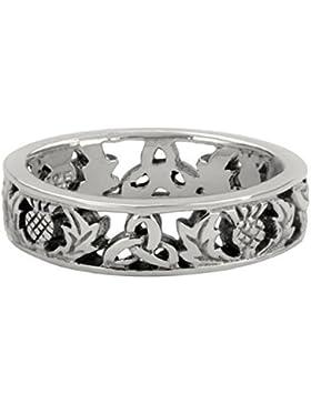 Schottische Distel Silber Ring