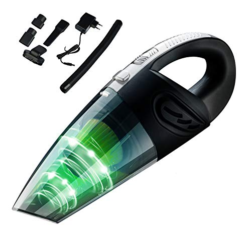 Cofuture Aspiradora de Mano Sin Cable, Aspirador Inalámbrica Portátil Potente [12V 120W 6000PA] Silencia Sistema Carga Rápida Hogar y Coche
