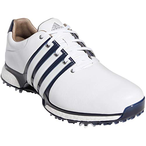 new style f638d aaf41 adidas Golf 2019 Tour 360 XT Mens Waterproof Spiked Leather Golf Shoes  White Navy