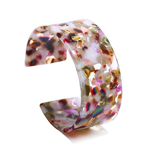 Ed Hardy Lailongp Acryl Schildpatt Breite Braune Manschette Armband Leopardenmuster Schmuck Armband,Geschenk Für Frauen