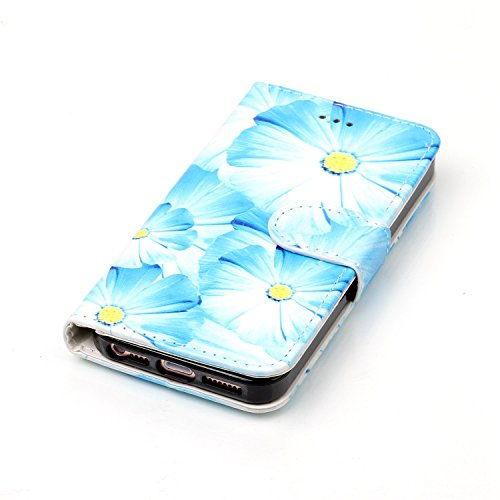 Custodia iphone 6 Antiurto,Cover iphone 6S 4.7 in Pelle,Ekakashop Moda Colorato Marmo Pattern Vintage Cellulare Cover Shockproof Completa Protettivo Caso Cover Custodia per iphone 6 6S 4.7 pollici co Orchidee