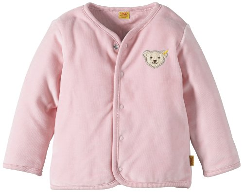 Steiff Unisex - Baby Strickjacke 0002887 Babyjäckchen 1/1 Arm, Einfarbig, Gr. 80, Rosa (Barely Pink)