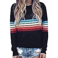 Frauen Einfach Lässig Sweatshirt Pullover Herbst Lose Rundhals Langarm Tops Bluse Jumper T-Shirt S-2XL