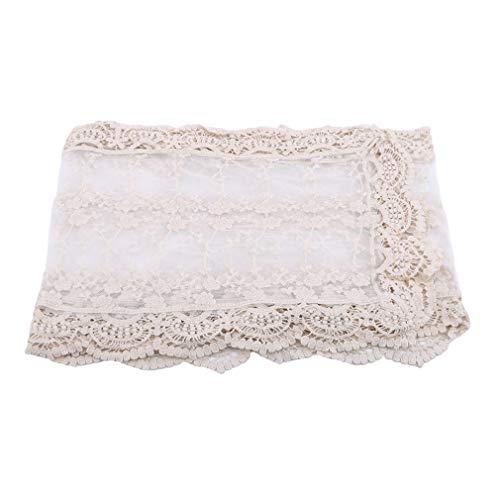 L_shop, scialle da donna in pizzo, leggero e morbido, sciarpa estiva da sposa, cotone, beige, as it is description