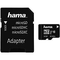 Hama Speicherkarten 32Go MicroSDHC UHS-I Classe 10 mémoire flash - Mémoires flash (32 Go, MicroSDHC, Classe 10, UHS-I, 45 Mo/s, Noir)