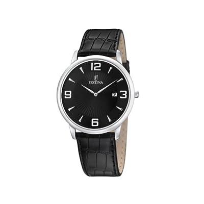 Reloj de caballero FESTINA F6806/2 de cuarzo, correa de piel color negro de F6806-2